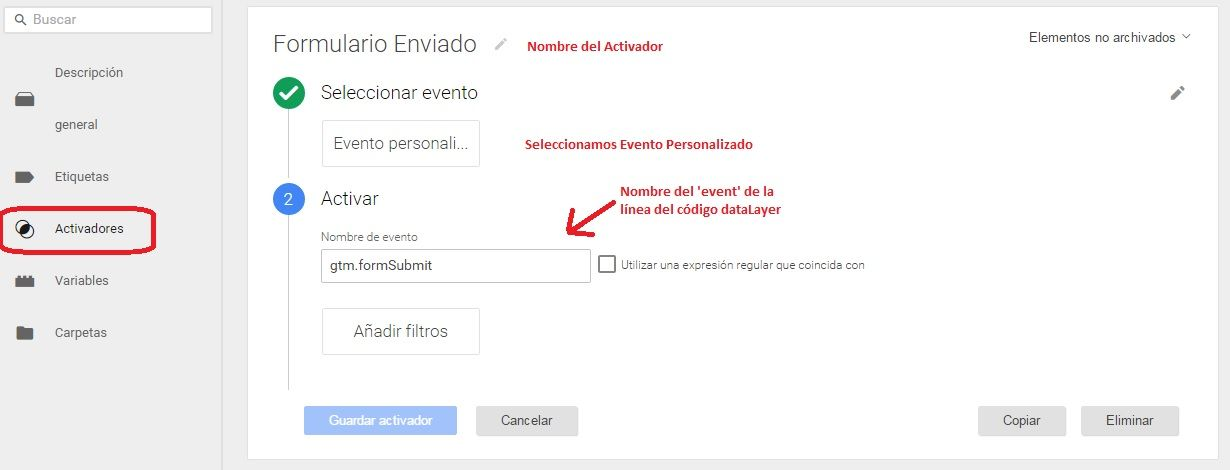 Conversión Adwords mediante Tag manager